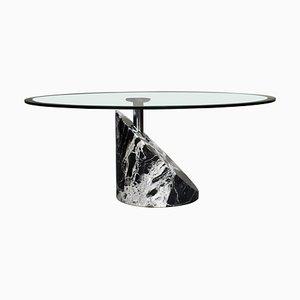 Tavolino da caffè in marmo e vetro di Giorgio e Maurizio Cattelan, anni '80