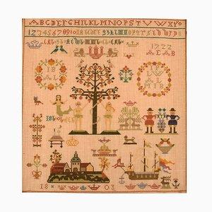 Danish Name Cloth Embroidery, 1803