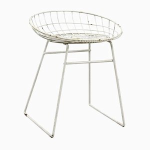 Vintage White KM05 Stool from Pastoe
