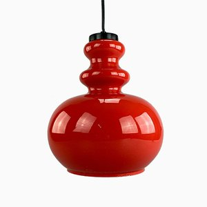 Space Age Glass Hanging Lamp, 1970s