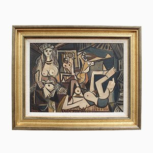Homage to Picasso's the Women of Algiers by Jones, 1960s