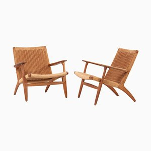 CH25 Easy Chairs by Hans J. Wegner for Carl Hansen, Set of 2