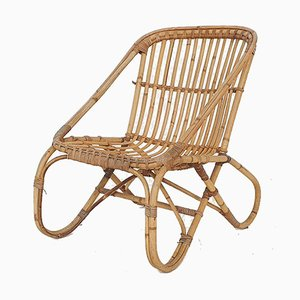 Mid-Century Bamboo Lounge Chair from Rohe Noordwolde, the Netherlands, 1950s