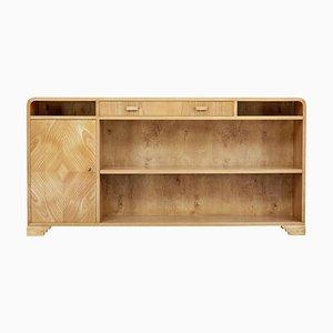 Mid-20th-Century Scandinavian Elm Low Open Bookcase