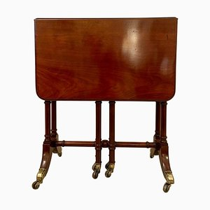 Antique George III Mahogany Spider Leg Drop-Leaf Table, Early 19th Century