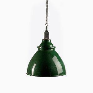 Enamel Industrial Factory Light, 1950s
