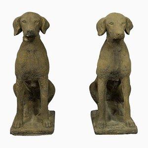 Estatuas para perros de caza. Juego de 2