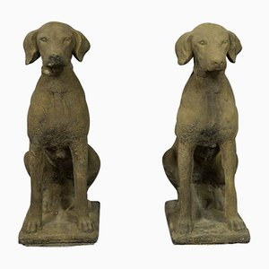 Hunting Dog Statuen, 2er Set
