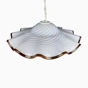 Vintage Swirl Murano Glass Pendant Lamp, 1970s