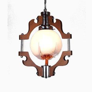 Lampe à Suspension en Verre de Mazzega, 1970s