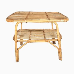 Vintage Bamboo Coffee Table, 1960s