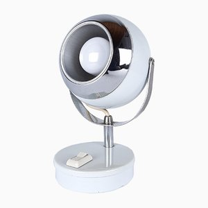 Lampe de Bureau Eyeball Blanche Mid-Century, 1960s