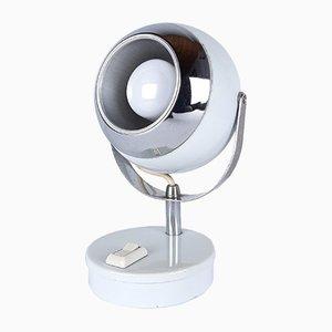 Mid-Century White Eyeball Desk Lamp, 1960s