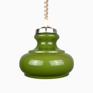 Mid-Century Green Glass Pendant Lamp, 1970s