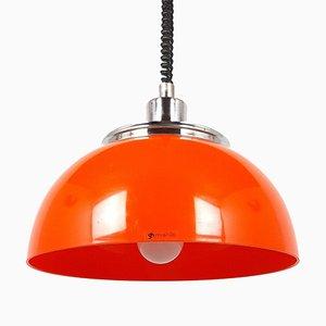 Lampe à Suspension Modèle Faro Orange Mid-Century par Meblo pour Harvey Guzzini
