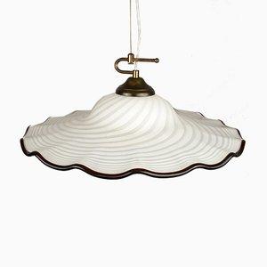 Vintage Swirl Murano Glass Pendant Lamp, Italy, 1970s