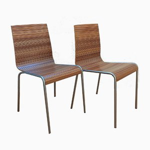 Model Zebra Plywood Dining Chairs from Calligaris, Set of 2