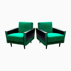 Mid-Century Green Armchair, 1960s, Set of 2