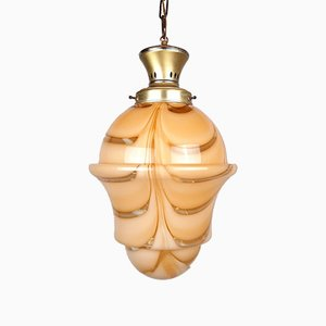 Large Murano Glass Pendant Lamp, Italy, 1970s