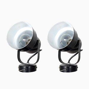 Industrielle Spotlight Wandlampe aus Metall, 1980er