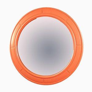 Specchio Europa Mid-Century in plastica arancione di Carrara & Matta