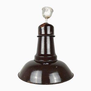 Industrielle Vintage Hängelampe aus Metall von Emo Celje
