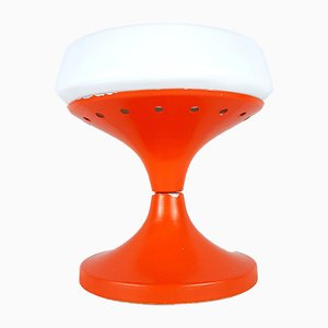 Mid-Century Tischlampe in Orange & Weiß, 1960er