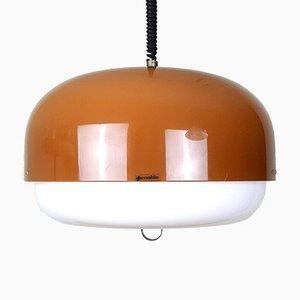 Lampe à Suspension Mid-Century Xl Meblo pour Guzzini Orange Meduza   Etsy