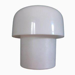 Lampe de Bureau Mushroom Mid-Century Blanche par Guzzini pour Meblo