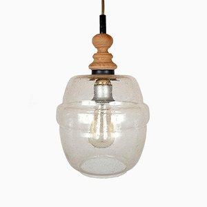 Mid-Century Glass Pendant Lamp, 1960s