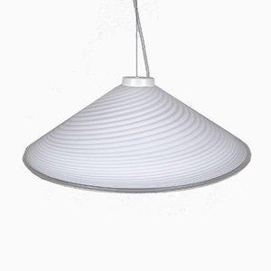 Mid-Century Italian Swirl Murano Glass Pendant Lamp, 1970s