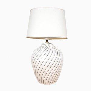 Vintage Italian White Ceramic Table Lamp, 1960s