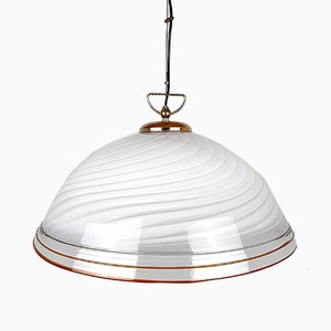Grande Lampe à Suspension Mid-Century en Verre Murano, Italie, 1970s