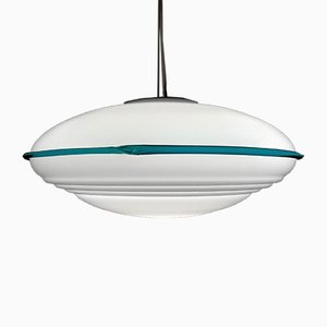 Large Mid-Century Italian Murano Glass UFO Pendant Lamp, 1980s