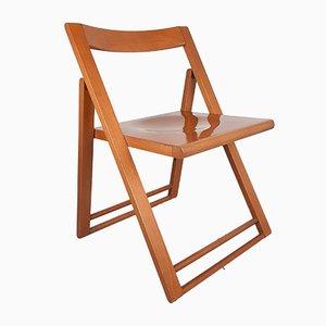 Vintage Italian Wood Folding Dining Chair, 1980s