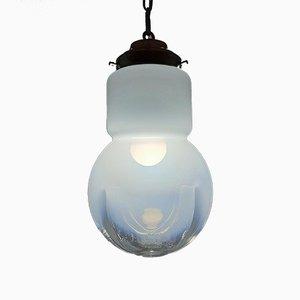 Lampe à Suspension Mid-Century en Verre de Murano de Mazzega, Italie, 1970s