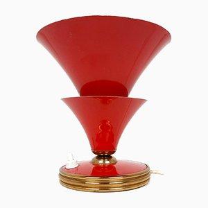 Rote italienische Vintage Tischlampe, 1950er