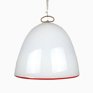 Large Vintage Murano Glass Pendant Lamp by Renato Toso for Leucos
