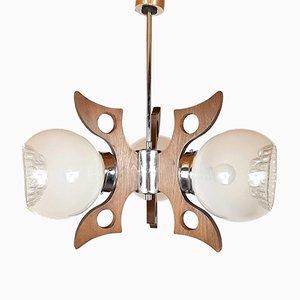 Vintage Geometric Chandelier Pendant Lamp, 1970s