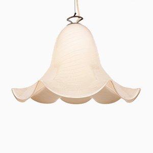 Large Vintage Murano Glass Fazzoletto Pendant Lamp by J.T. Kalmar