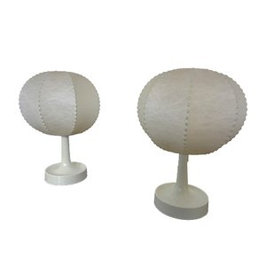 Cocoon Table Lamps by Alfred Wauer for Goldkant, 1960s, Set of 2