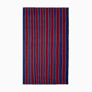 Vintage Striped Turkish Kilim Carpet, 1970s
