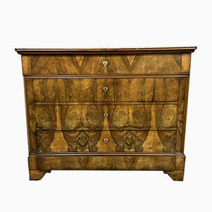 Louis Philippe Walnut Chest of Drawers, 1830s