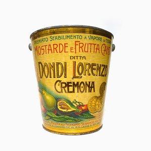 Barattolo color mostarda di Metalgraf, anni '20