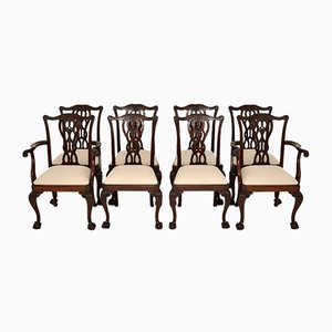Antique Dining Chairs, Set of 8