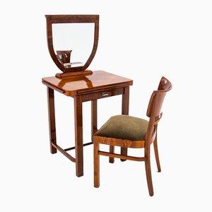 Scandinavian Dressing Table & Chair, 1940s, Set of 2