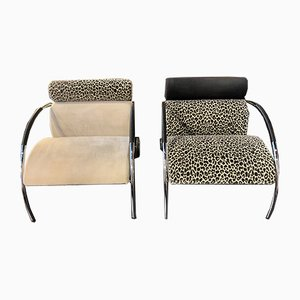 Vintage Postmodern Cycle Armchairs by Peter Maly for Cor, Set of 2