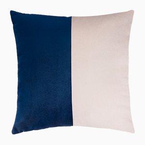 Double Optical Blue Cushion by Briola Lorenza