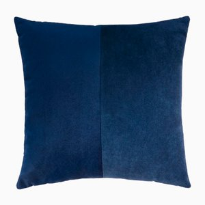 Double Blue Velvet Cushion Cover by Lorenza Briola for Lo Decor