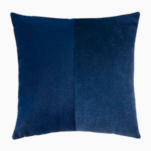 Funda de cojín doble de terciopelo azul de Lorenza Briola